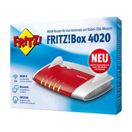 avm fritzbox 4020 wlan rt ohne modem kaufen pc mediastore aschaffenburg. Black Bedroom Furniture Sets. Home Design Ideas
