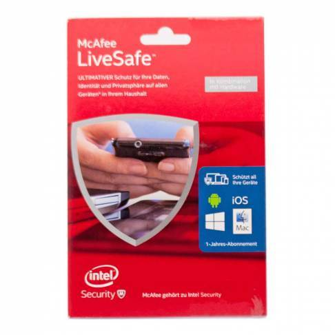 Software McAfee LiveSafe Device Attach 1Jahr