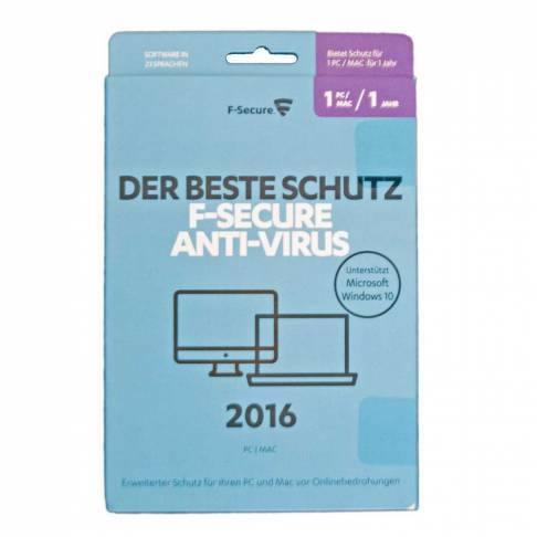 Software F-Secure Antivirus 1 PC