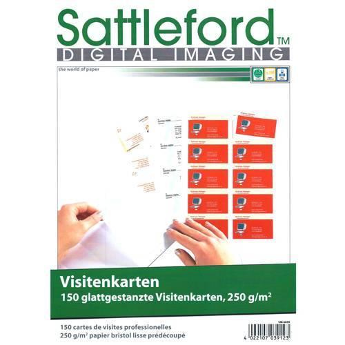 150 Visitenkarten Glatte Kanten 250g