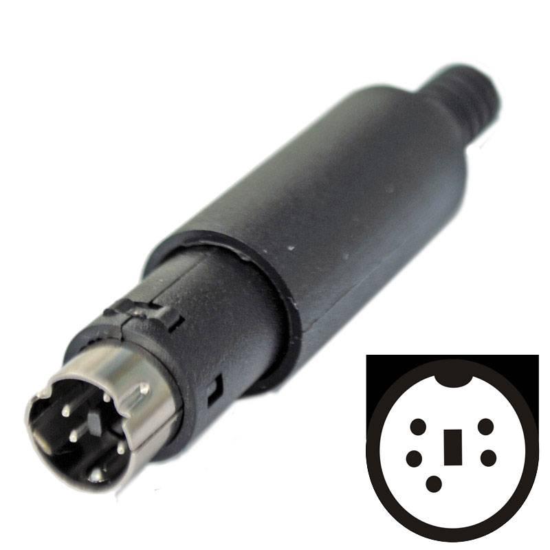 Mini DIN Stecker 5-polig Lötversion kaufen | PC:MediaStore Aschaffenburg