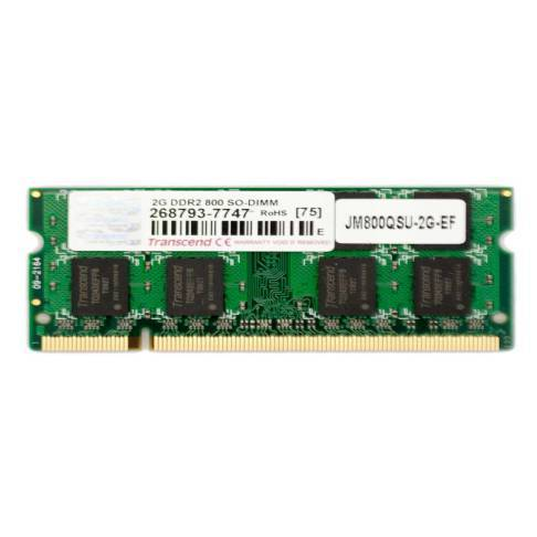 Notebookspeicher 2048MB SODIMM PC800 DDR2 Transcend