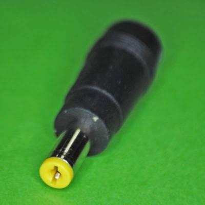 DC Stecker Adapter 5.5x2.1mm auf 5.5x1.7mm gelb