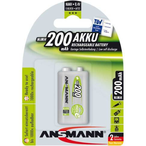 ansmann maxe nimh akku 9v block e 200mah 1er pack. Black Bedroom Furniture Sets. Home Design Ideas