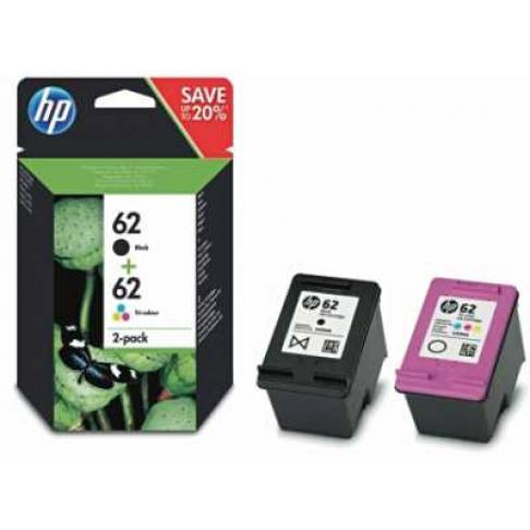 Tinte HP NO. 62 Schwarz + Color 200S/165S