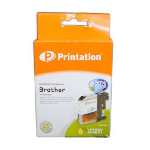 kompatible Tinte Brother LC-123Y yellow Printation