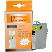 kompatible Tinte Epson T0611 B Printation DX3850 17ml