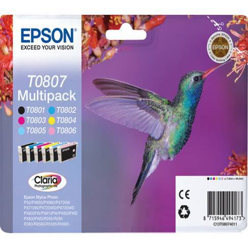 Tinte Epson T080740 6er Sparpack R265