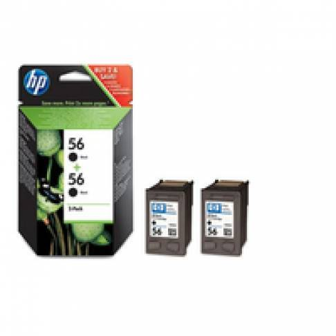Tinte HP C6656A Black 19ml 2er Sparpack