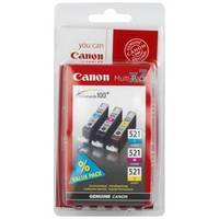 Tinte Canon CLI-521C/M/Y Multipack CMY