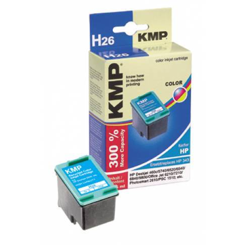 kompatible Tinte HP No. 343 Color DJ5740 KMP 14ml