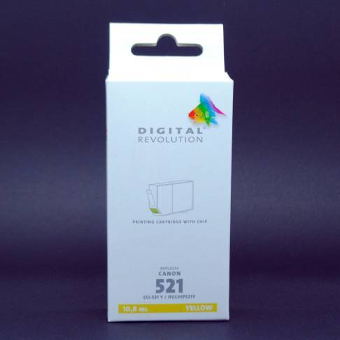 kompatible Tinte Canon CLI-521Y DigitalRev 9ml Yellow