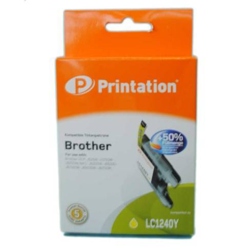 kompatible Tinte Brother LC1240Y Yellow Printation