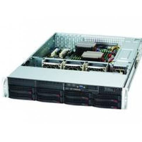 "19"" Supermicro Rack 2HE 720W red."