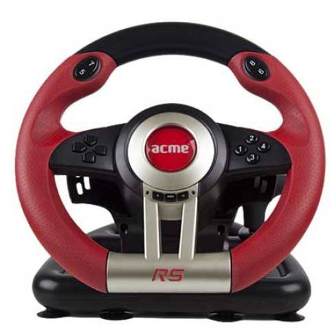 Lenkrad Acme RS Racing Wheel schwarz rot