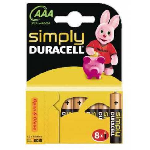 Batterie AAA Micro Duracell 8 St.