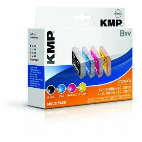 Tinte KMP/B9V/Brother Multipack LC1000