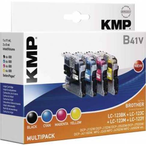 Tinte KMP/B41V/Brother Multipack LC123